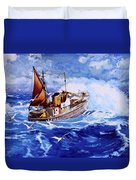 Lowestoft Trawler Duvet Cover