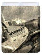 Lufthansa Junkers Ju 52 Vintage Duvet Cover