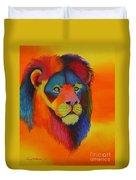 Luminesent Lion  Duvet Cover