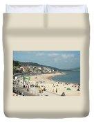 Lyme Regis Beach Duvet Cover