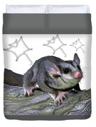 M Is For Mahogany Glider Duvet Cover