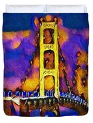 Mackinac At Dusk Duvet Cover