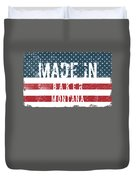 Made In Baker, Montana Duvet Cover