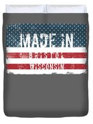 Made In Bristol, Wisconsin Duvet Cover