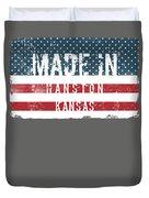 Made In Hanston, Kansas Duvet Cover