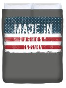 Made In Harmony, Indiana Duvet Cover