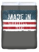 Made In Haskell, Texas Duvet Cover