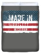 Made In Haslett, Michigan Duvet Cover
