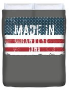 Made In Hawkeye, Iowa Duvet Cover