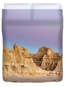 magenta Dawn in the Badlands  Duvet Cover
