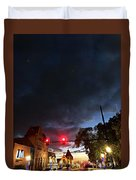 Maine Street Sunset  Duvet Cover