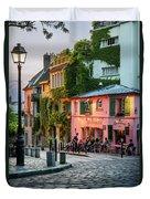 Maison Rose Evening II Duvet Cover by Brian Jannsen