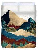 Malachite Mountains Duvet Cover