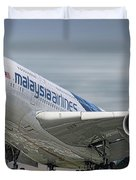 Malaysia Airlines Airbus A380-841 Duvet Cover