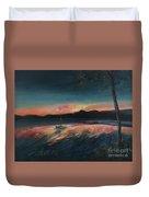 Malletts Bay Sunrise Colchester Vermont Duvet Cover