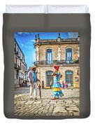 Man And Woman Duvet Cover