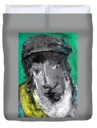 Man In A Scarf Duvet Cover