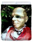 Man In Bushes Duvet Cover
