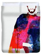 Man With No Name Watercolor Duvet Cover