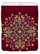 Mandala Flowering Series#2. Terracotta Duvet Cover