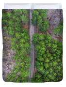 Manistee Pines Panorama Duvet Cover