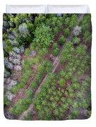 Manistee River Aerial Duvet Cover
