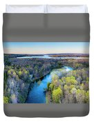 Manistee River And Hodenpyle Dam Aerial Duvet Cover