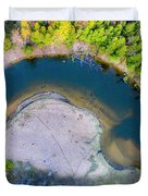Manistee River Curve Aerial Duvet Cover