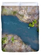 Manistee River From Above Duvet Cover