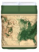 Map Of American Forests 1883 Duvet Cover