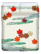 Maple Leaf - Japanese Traditional Pattern Design Duvet Cover