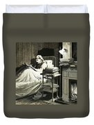 Marcel Proust Sat In Bed Writing Remembrance Of Things Past Duvet Cover