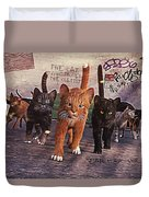 March Of The Mau Duvet Cover