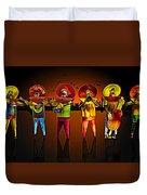Mariachis Duvet Cover by Paul Wear