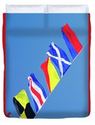 Maritime Signal Flags Duvet Cover