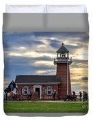 Mark Abbott Memorial Lighthouse And Santa Cruz Surfing Museum Duvet Cover