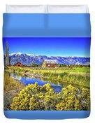 Marlboro Barn, Gardnerville, Nevada Duvet Cover