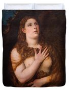 Mary Magdalene Repentant Duvet Cover