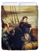 Mary, Queen Of Scots - The Farewell To France, 1867  Duvet Cover