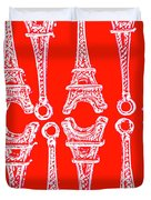 Match Made In Paris Duvet Cover