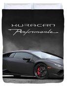 Matte Black Huracan Duvet Cover
