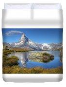 Matterhorn From Lake Stelliesee 07, Switzerland Duvet Cover