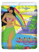 Maui Poster - Pop Art - Travel Duvet Cover