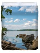 May Afternoon On The Hudson Duvet Cover