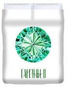 May Birthstone - Emerald Duvet Cover