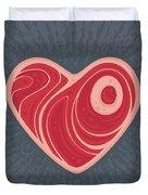 Meat Heart Duvet Cover