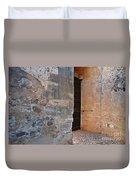 Medieval Castle Entrance In Algarve Duvet Cover