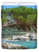 Mediterranean Landscape In Menorca Duvet Cover