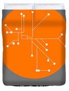 Melbourne Orange Subway Map Duvet Cover