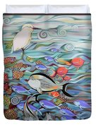 Memory Of The Coral Reef Duvet Cover